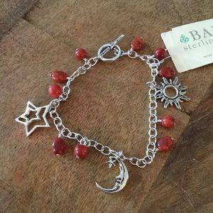"Barse ""Sun, Moon & Stars"" Bracelet coral new"